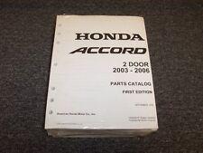 2003 2004 2005 2006 Honda Accord Coupe Parts Catalog Manual DX LX EX 2.4L 3.0L