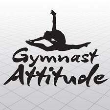 Gymnastics Vinyl Sticker Graphics, Girl Gymnast vinyl wall decal,Gymnast sticker