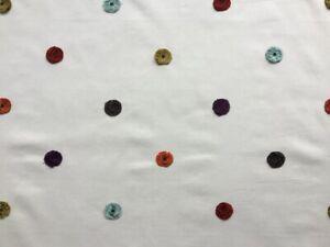 Harlequin Curtain Fabric 'Bobbin' 3.2m Russet/Ochre/Topaz -Embroidered
