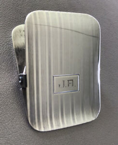 Vintage Rare Napier Sterling Silver Paper Clip Holder In Great Condition
