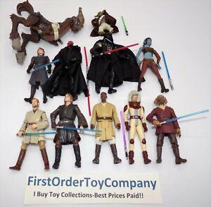 Star Wars Various Jedi & Sith Loose Figure Lot Darth Vader Yoda Aayla Secura