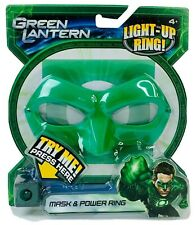 Green Lantern Hal Jordan Mask & Power Ring Lights Up 2011 Prop Costume DC Comics