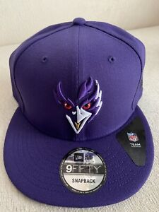 Baltimore Ravens Mens New Era 9Fifty 950 Custom Logo Elements Snapback Hat NEW