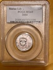 More details for 1/4 oz platinum coin usa statue of liberty $25 2004 authenticated pcgs ms 69