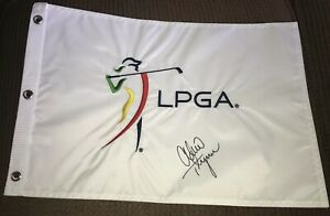 Lexi Thompson Signed LPGA Golf Flag With Proof