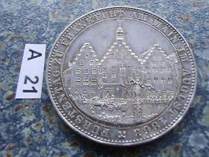 Frankfurt Gedenktaler 1863 Fürstentag Ankunft der Prinzen Taler / Erhaltung vz