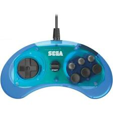 Retro-Bit Sega Genesis 6 Button USB Controller - Clear Blue