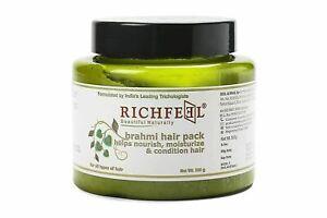 Richfeel Brahmi Hair Pack Help Nourish Moisturize & Condition Hair 500g