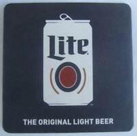 LITE, THE ORIGINAL LIGHT BEER Beer COASTER Mat, Miller, Milwaukee WISCONSIN 2019
