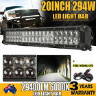 20inch 294W Philips Spot FLood Combo Led Work Light Bar Offroad Driving Lamp 4wd