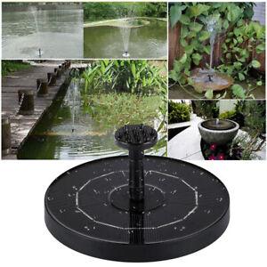 13/18 Dia. Solar Powered Floating Bird Bath Water Fountain Pump Garden Pond Pool