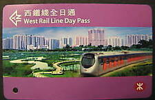 HONG KONG RAILWAY TICKET - west rail line day pass ticket (MTR) Used