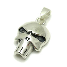 925 Punisher Pe001068 Sterling Silver Pendant Solid