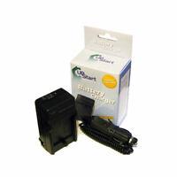 Battery Charger +Car Plug for E-300 Evolt, E-3 SLR, E-500 Evolt