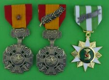 3 Vietnam Medals Gallantry Cross with Bronze Star, Palm & Campaign - RVN COG VCM