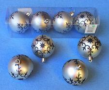 8 Boules de Noël Décorations pour Arbre Ø5 ,5 cm Couleur Argentée PLASTIQUE