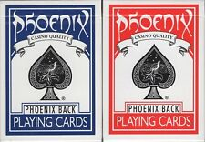 Phoenix 2 Deck Set Blue & Red Playing Cards Poker Size USPCC Card-Shark Custom