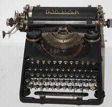 1929 Vintage British BAR-LOCK Model 18 Typewriter - Working [PL1008]