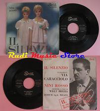 LP 45 7'' NINI ROSSO Il silenzio Via caracciolo 1964 italy SPRINT 5550*cd mc dvd