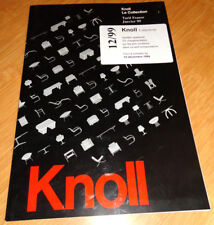 catalogue publicite collection knoll design 1999
