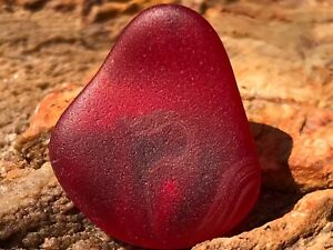 Cultured Sea Glass Beach Glass - Red Machine-tumbled