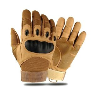 Artificial Leather Hard Knuckle Full Finger Protective Gear Army/Driving Gloves