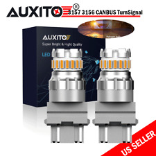 High Power 50W CANBUS 3157 LED Amber Yellow Rear Turn Signal Parking Light Bulbs