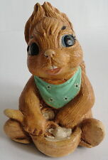Pepiware Squirrel Nipper Sitting Bowl English Chalkware Figurine Vintage 1970's