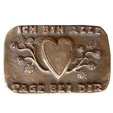 Bronze Relief Ich bin alle Tage bei dir 15 cm