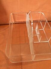 6 Compartment Clear Acrylic Make Up Holder Organizer with handle
