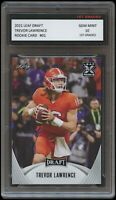 TREVOR LAWRENCE 2021 / '21 LEAF DRAFT 1ST GRADED 10 ROOKIE CARD CLEMSON TIGERS