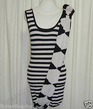 BNWOT:SASS&BIDE STRIPED BODY CON MINI DRESS W/SCARF AUS 10 RAISE THE SUBJECT