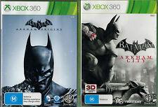 Batman Arkham City + Arkham Origins,  Xbox 360 game complete, Used