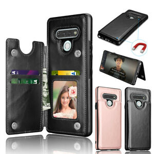 For LG Stylo 6 Wallet Case Leather ID Credit Holder Flip Magnetic Phone Cover