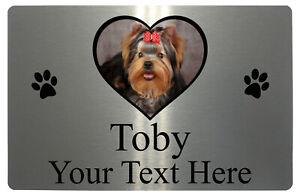 Personalised Pets Dog Cat Name Photo Metal Aluminium Plaque Sign Door 5 Sizes