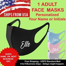 Your Name - Initial Personalized Unisex Face Mask Reusable Washable Printed Mask