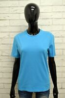 Maglia CALVIN KLEIN Donna Taglia L Maglietta Shirt Woman Cotone Manica Corta Blu