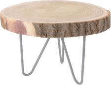 Massivholz Beistelltisch - Holz Tisch aus Baumscheibe - Sofatisch Couchtisch