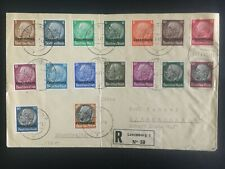 1940 Luxembourg Germany Registered stamp set Cover Overpinted
