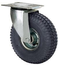 Rolle luftbereift 260 mm Kugellager 200 kg Platte Lenkrolle Platte Rad