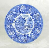 """Wood and Sons Salad Plate Blue English Scenery Farmhouse Scene Floral England 8"""""""