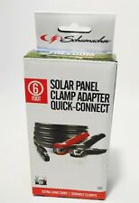 Schumacher Solar Panel Clamp Adapter Quick-Connect 12V