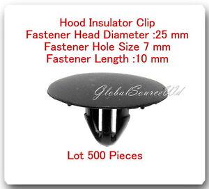 500 Pcs Hood Insulator Clip Head 25mm Hole Zise 7mm  Length 10mm Fits: Lexus