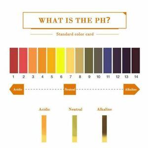 160xpH Test Strips 0-14 pH Measure Paper Drinking Water,Food,Pools Alkaline&Acid