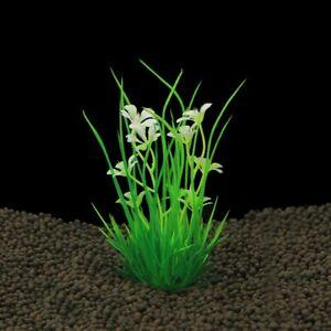 Color Realistic Decorative Aquarium Fish Tank Ornament Plastic Plants Grass