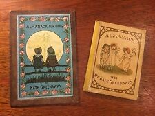 Two Original Kate Greenaway Almanacks for 1884 & 1885