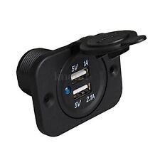 PRESA DOPPIA USB 12V ACCENDISIGARI AUTO MOTO SCOOTER CAMPER caricabatteria smart