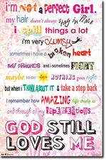 GOD STILL LOVES ME - MOTIVATIONAL POSTER - 22x34 SHRINK WRAPPED NOT PERFECT 5855