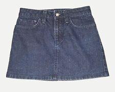 Juicy Couture Girls Size 12 Dark Wash Sparkle Denim Jean Skirt Glitter Bling
