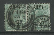 GB OFFICIAL ARMY KE7 1/2d PAIR..USED WILTS DEVIZES..VFU
